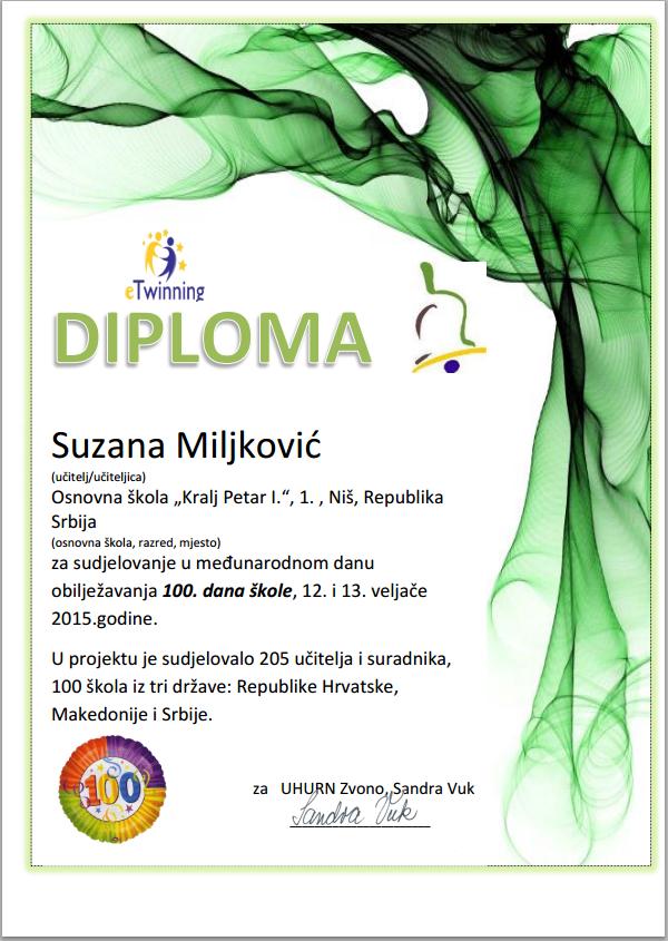 100 diploma